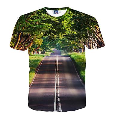 קיבל השראה מ קוספליי קוספליי אנימה תחפושות קוספליי Cosplay חולצת טריקו דפוס ירוק קצר חולצת טי