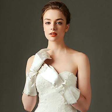 Nylon Ellenbogen Länge Handschuh Brauthandschuhe Party / Abendhandschuhe With Schleife