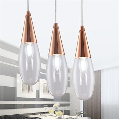 מנורות תלויות ,  מודרני / חדיש Electroplated מאפיין for LED סגנון קטן מתכתחדר שינה חדר אוכל מטבח חדר מקלחת חדר עבודה / משרד חדר ילדים