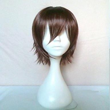 Συνθετικές Περούκες Ίσιο Καφέ Γυναικεία κοστούμι περούκα Κοντό Συνθετικά μαλλιά