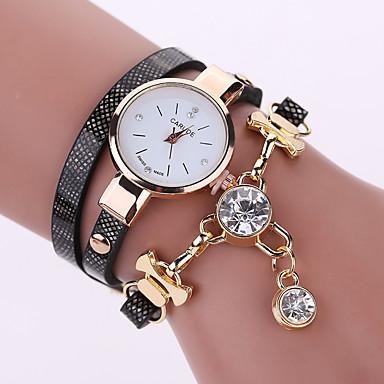 Damen Modeuhr Armband-Uhr Quartz Leder Band Blume Schwarz Weiß Blau