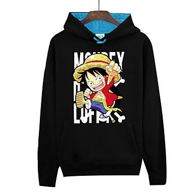 Inspiriert von One Piece Monkey D. Luffy Anime Cosplay Kostüme Cosplay Hoodies Druck Langarm Top Für Herrn Damen