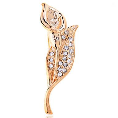 Damen - Strass, vergoldet, Diamantimitate Luxus Brosche Gold / Silber Für Hochzeit / Party / Normal