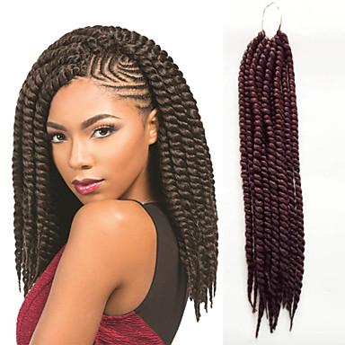 #33 הוואנה צמות טוויסט תוספות שיער 12inch 14inch 18inch 24inch Kanekalon 2X גָדִיל 120g/Pack גְרַם שיער צמות
