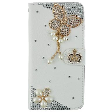 Hülle Für iPhone 6s Plus iPhone 6 Plus iPhone 6s iPhone 6 iPhone 6 iPhone 6 Plus Kreditkartenfächer Geldbeutel Strass mit Halterung