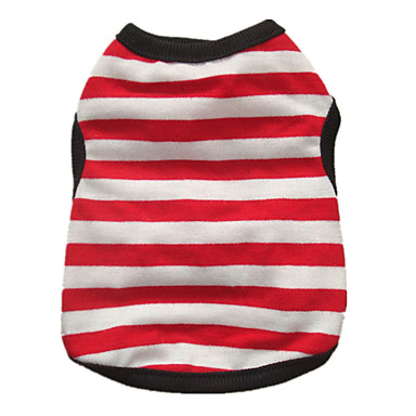 Dog Shirt / T-Shirt Dog Clothes Stripe Hearts White/Red Black/Red White/Black White/Blue Costume For Pets
