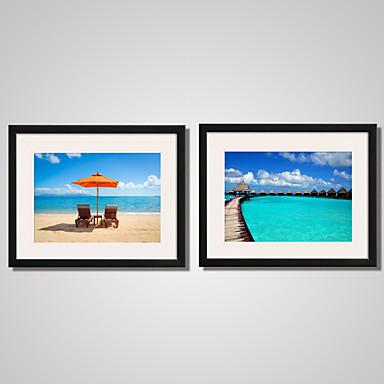 Conjuntos de Lona Lonas Estampadas com Moldura Tela de impressão Paisagem Fotografia Moderno Lazer 2 Painéis Horizontal Decoração de