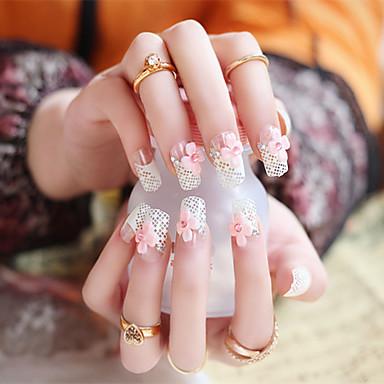 24X / set falsche Nägel falschen Nagel fertig Maniküre Nägel Spitzen Gitterform