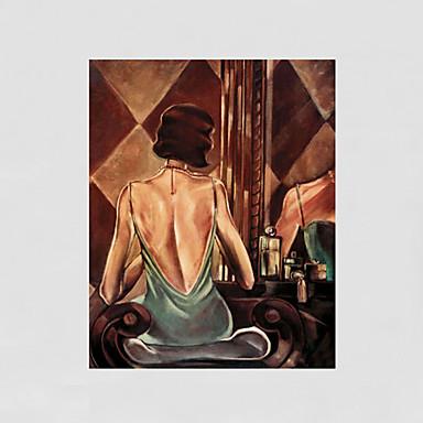 Handgemalte Abstrakt / Menschen / AktmalereiModern Ein Panel Leinwand Hang-Ölgemälde For Haus Dekoration