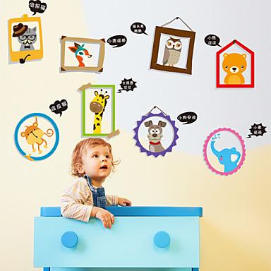 Eläimet Piirretty Muoti Wall Tarrat Lentokone-seinätarrat Koriste-seinätarrat materiaali Irroitettava Kodinsisustus Seinätarra