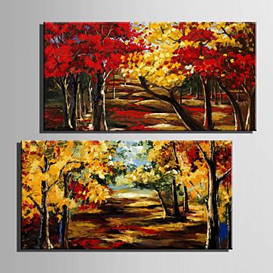 Landschaft / Botanisch Leinwand drucken zwei Panele Fertig zum Aufhängen,Vertikal
