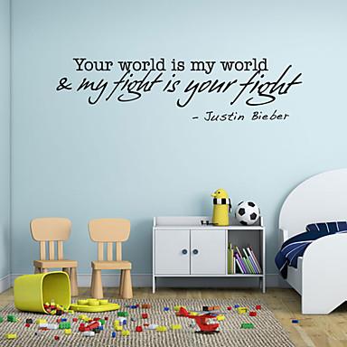Worte & Zitate Wand-Sticker Flugzeug-Wand Sticker Dekorative Wand Sticker Stoff Abziehbar Repositionierbar Haus Dekoration Wandtattoo