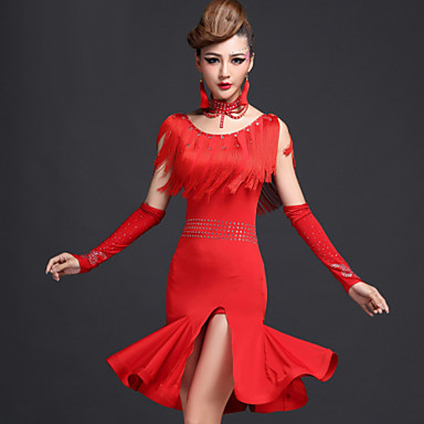Latin Dans Kjoler Dame Ytelse Spandex Viskose Dusk Kjole Shorts