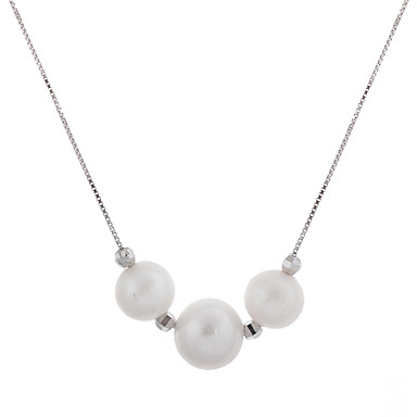Damen Perle Anhängerketten Perlenkette Anhänger - Perle Hülle Modisch Kreisform Geometrische Form Modische Halsketten Für Hochzeit