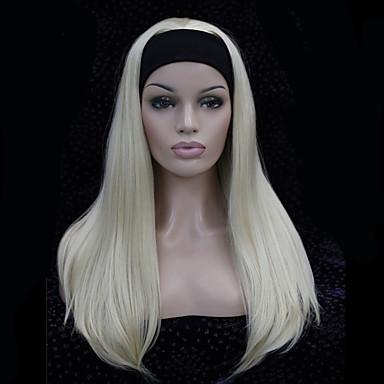 Peruki syntetyczne Prosto Damskie Bez czepka Karnawałowa Wig Halloween Wig Długo Włosy syntetyczne