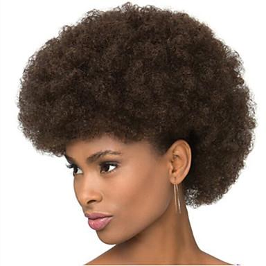 Syntetiske parykker Bølget / Afro Syntetisk hår Afroamerikansk parykk Parykk Dame Kort StrongBeauty