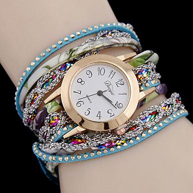 Damen Modeuhr Quartz Armbanduhren für den Alltag Legierung Band Schwarz Weiß Blau Rot Mehrfarbig Rose