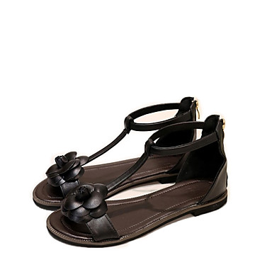 נעלי נשים-סנדלים / שטוחות / סניקרס אופנתיים / כפכפים / מדרסים ואביזרים-דמוי עור-רצועת T / נוחות / חדשני / סירה / מעוגל / מגפי אופנה /