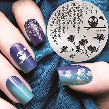 1 pcs Stampplate Mal Stilig Design Neglekunst Manikyr pedikyr Stilfull / Mote Daglig / stempling Plate / Metall