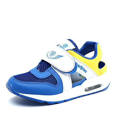 Jungen-Sneaker-Outddor / Lässig-Kunststoff / Tüll-Flacher Absatz-Fersenriemen / Sandalen-Blau / Marineblau