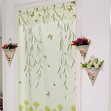 One Panel Window Hoito Kantri , Yhtenäinen Living Room Polyesteri materiaali Ovipaneeli Verhot verhot Kodinsisustus For Ikkuna