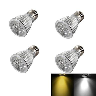 4stk 450-550 lm E26 / E27 LED-spotlys R63 5 LED Perler Højeffekts-LED Dæmpbar / Dekorativ Varm hvid / Kold hvid 220-240 V / 110-130 V / 85-265 V / 4 stk.