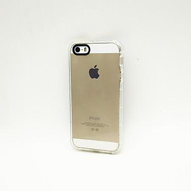 Etui Til iPhone 5 / Apple iPhone 5 etui Stødsikker / Transparent Bagcover Ensfarvet Blødt TPU for iPhone SE / 5s / iPhone 5