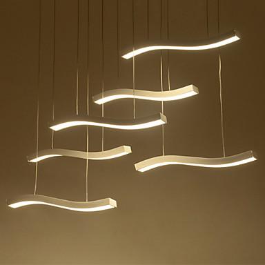 6-Licht Pendelleuchten Moonlight - LED, 110-120V / 220-240V, Wärm Weiß / Weiß, LED-Lichtquelle enthalten / 20-30㎡ / integrierte LED
