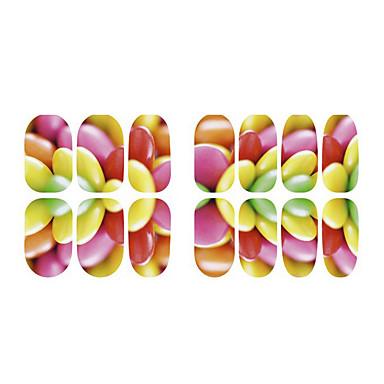 frugt fluorescens blomst og elg negle smykker