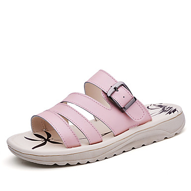 נשים נעליים עור אביב קיץ סתיו נוחות שטוח ל קזו'אל לבן כחול ורוד