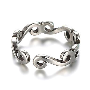 Dame Band Ring / Manchet ring - Sølv Vintage Justerbar Sølv Til Daglig / Afslappet