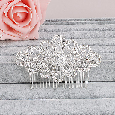 rhinestone hair combs headpiece bryllupsfesten elegant feminin stil