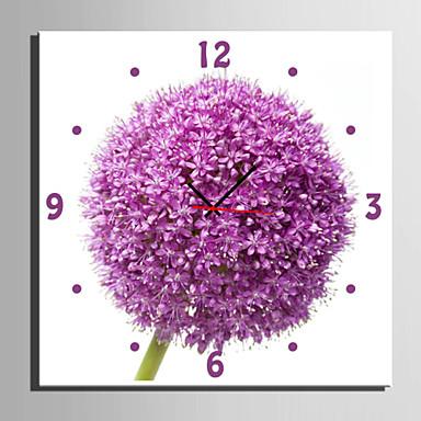 Quadrada Moderno/Contemporâneo Relógio de parede,Florais/Botânicos Tela40 x 40cm(16inchx16inch)x1pcs/ 50 x 50cm(20inchx20inch)x1pcs/ 60 x