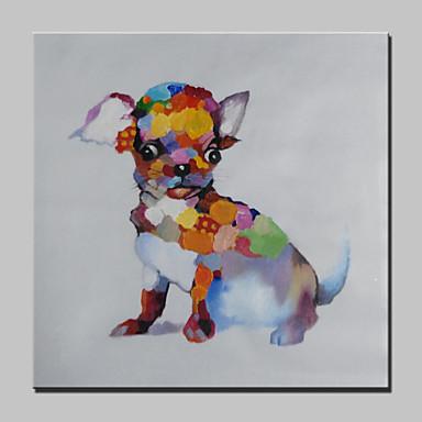 מצויר ביד מופשט / בעלי חיים / סרט מצויר / Popמודרני פנל אחד בד ציור שמן צבוע-Hang For קישוט הבית