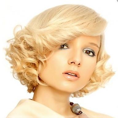 Syntetiske parykker Bølget Dame Lokkløs Kort Syntetisk hår