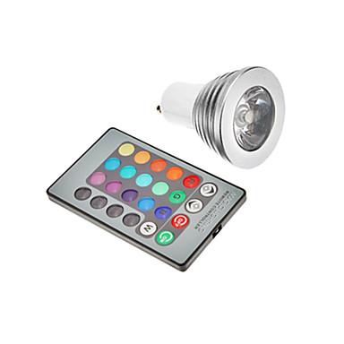 3W 300 lm GU10 E26/E27 LED-spotpærer leds RGB AC 85-265V