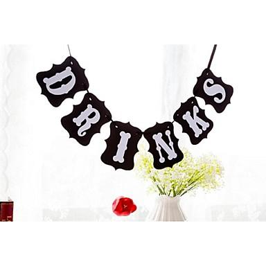 Hochzeit / Verlobung / Abiball Hartkartonpapier Hochzeits-Dekorationen Garten / Blumen / Märchen Winter Frühling Sommer Herbst
