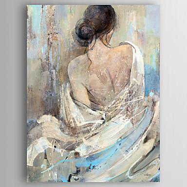 Ölgemälde moderne Menschen zurück einer Frau handgemalte Leinwand mit gestreckten gerahmt