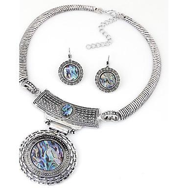 Schmuck Halsketten / Ohrringe Halskette / Ohrringe Modisch / Vintage Party / Alltag / Normal 1 Set Damen Silber Hochzeitsgeschenke