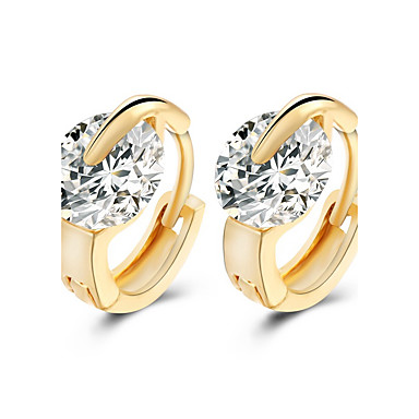 Damen Ohrstecker - Geburtssteine Modisch Silber Golden Ohrringe Für Hochzeit Party Alltag