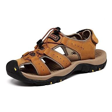 Hombre Zapatos Cuero de Napa Primavera / Verano / Otoño Confort Tacón Plano Marrón