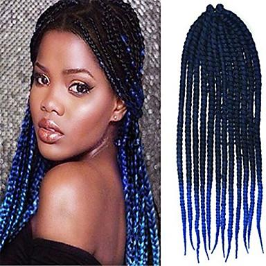 12-24 Zoll Häkeln Geflecht havanna mambo afro Twist Haarverlängerung schwarz auf blau