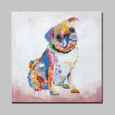 große Ölgemälde modernen abstrakten Tier Hund handgemalte Wandbilder mit gestreckten Rahmen