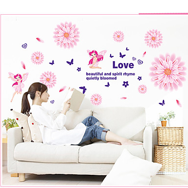 Botanique / Romance / Nature morte / Mode / Floral / Loisir Stickers muraux Stickers avion,PVC 60*45*0.1