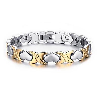 Ketten- & Glieder-Armbänder - Edelstahl Herz, Liebe Modisch Armbänder Silber Für Hochzeit / Party / Jahrestag