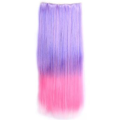 ombre sintetico perruque gerade natürliche Haar Toupet Kostüm synthetischen Haarclip in den Haarverlängerungen
