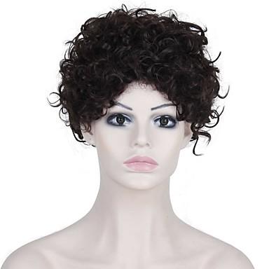 Syntetiske parykker Krøllet / Afro Syntetisk hår Parykk Dame Lokkløs