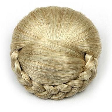 verworrene lockige Gold Europa Braut Chignons menschliches Haar capless Perücken dh103 1003