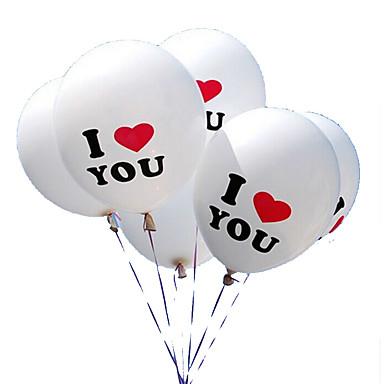 100pcs / הרבה 12 אינץ 'אני אוהב אותך בלוני לטקס פנינה globos בלונים עבור קישוטי חתונת המולד