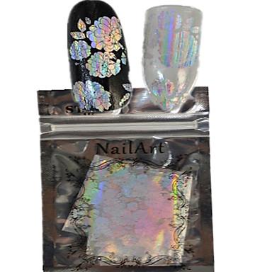 1 Nagel-Kunst-Aufkleber Vollständige Nail Tips Abstrakt Zeichentrick lieblich Hochzeit Make-up kosmetische Nagelkunst Design